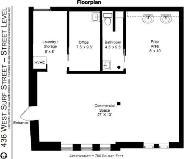 436 W Surf Street Floor Plan